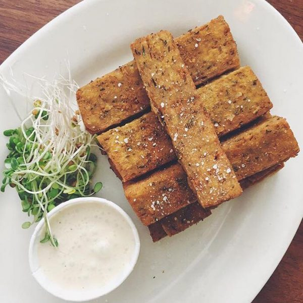 Peacefood Cafe chickpea fries