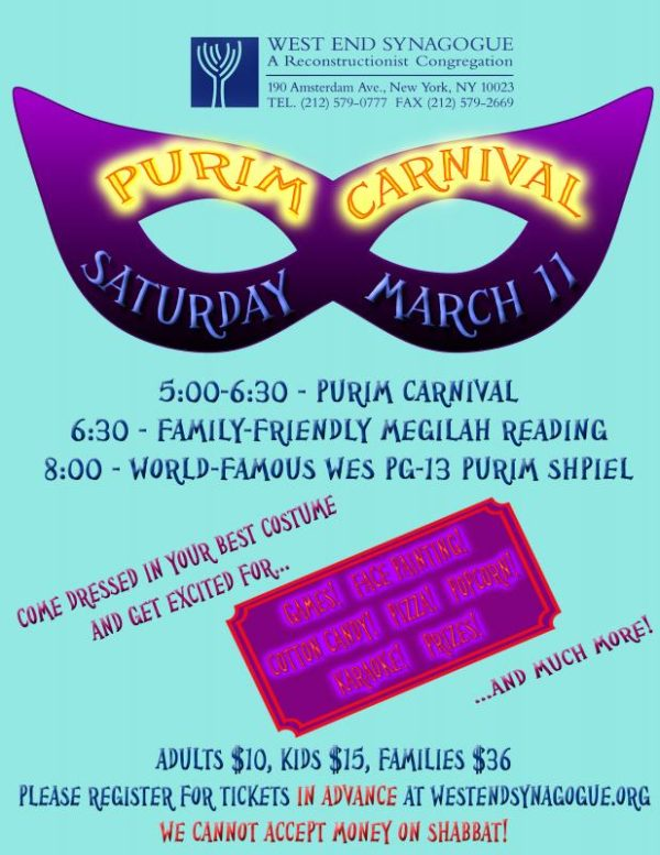 upper west side purim