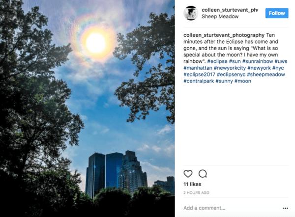 2017 eclipse Upper West Side