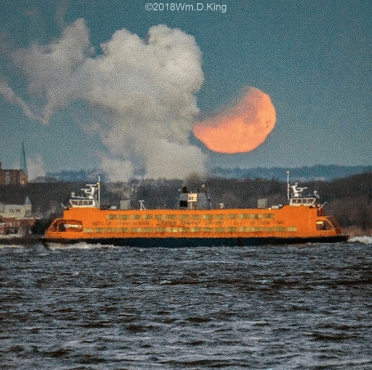 Super Blue Blood Moon in NYC