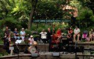 music in a garden
