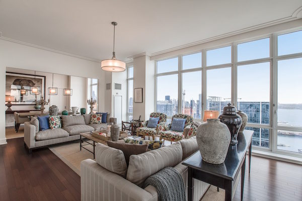 John Olivers NYC Penthouse - Living Room