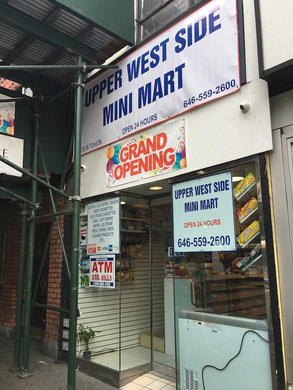 Mini Mart 176 West 72nd Street