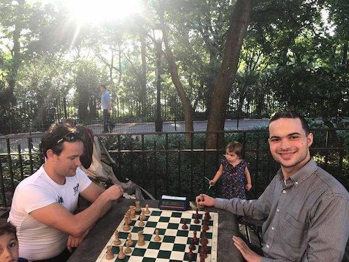 Riverside Park Chess Tables