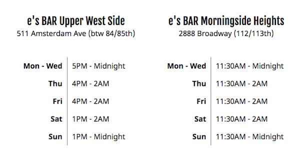 Es Bar Hours