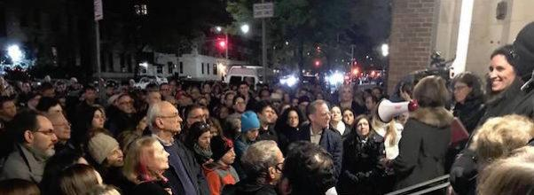 Vigil At Congregation Ansche Chesed