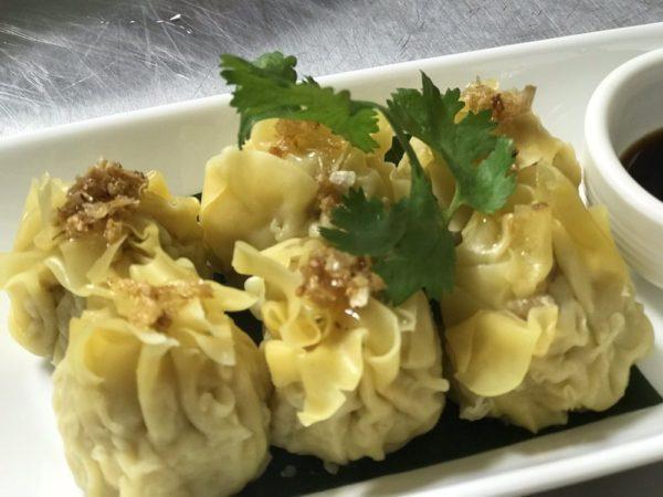 chicken and shrimp thai dumplings