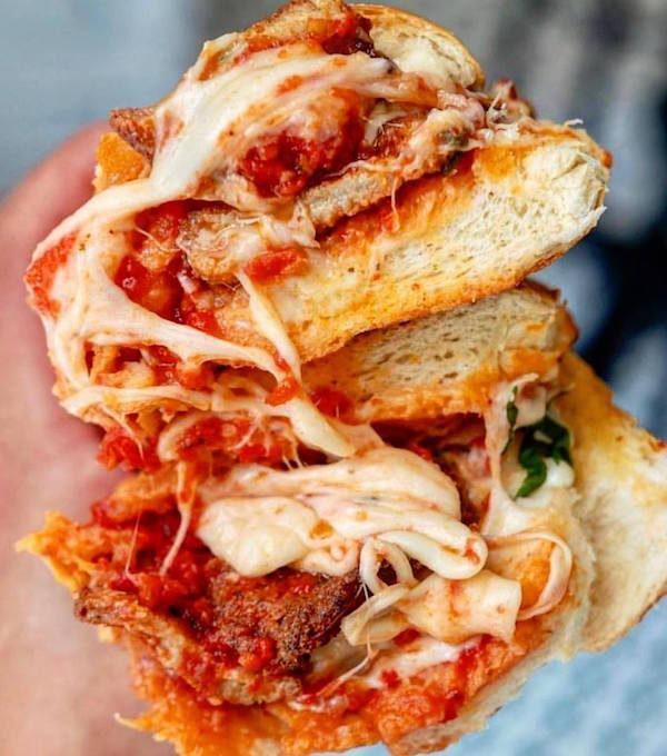 Marinara Pizza Chicken Parm Sandwich