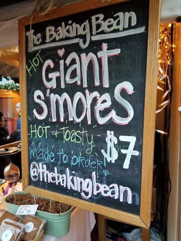 The Baking Bean Smores Sign