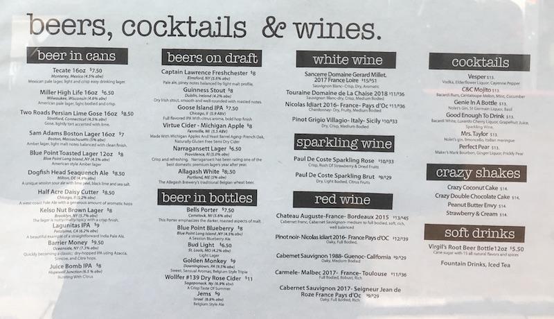 GETE Drink List