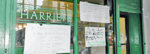 harriets kitchen has closed