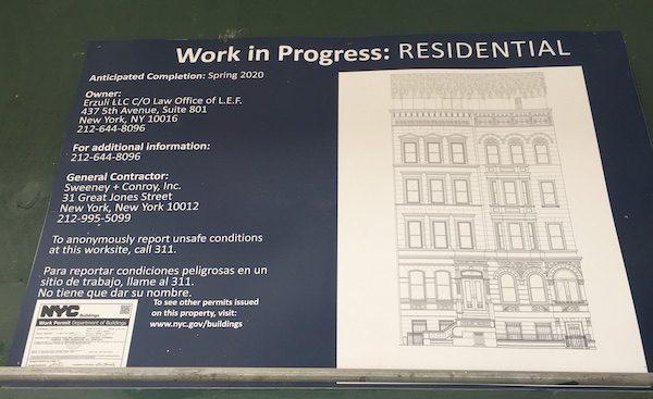48-50 West 69th Street Rendering