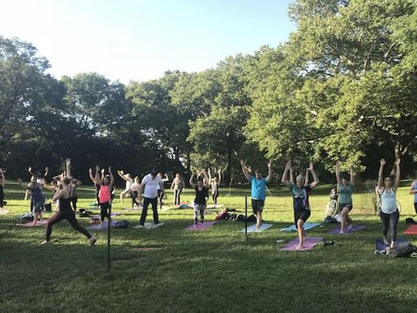 Yoga Riverside Park NYC