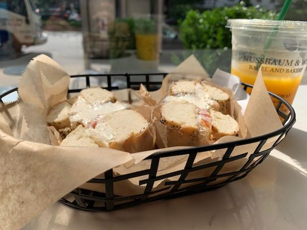 Bagel with Cream Cheese NYC