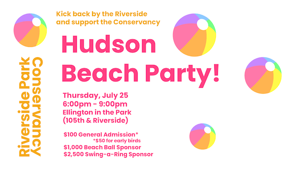 Hudson Beach Party Riverside Park NYC