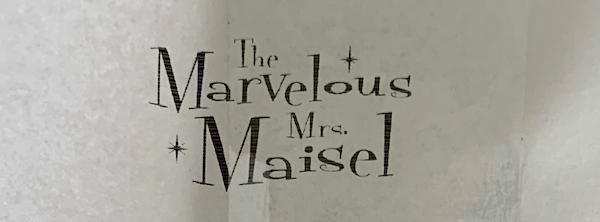 Mrs. Maisel filming Upper West Side scenes