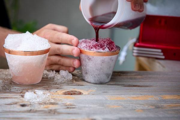 wine infused snowcone