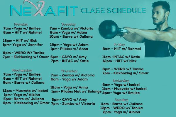 Nexa Fit Class Schedule