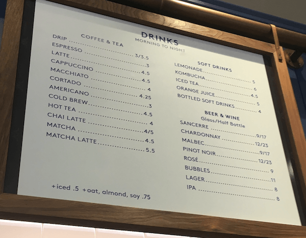Beverage List Daily Provisions UWS