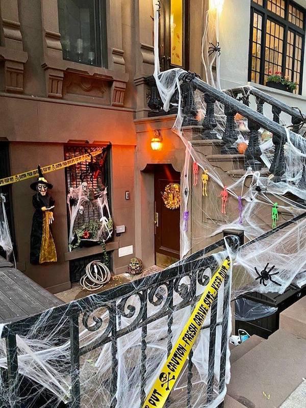 Decorated Halloween Brownstone UWS