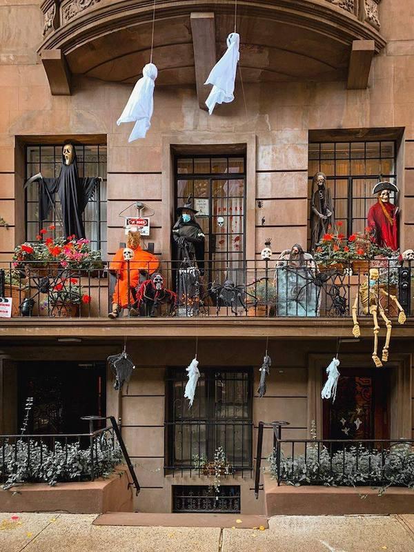 Halloween Brownstone NYC