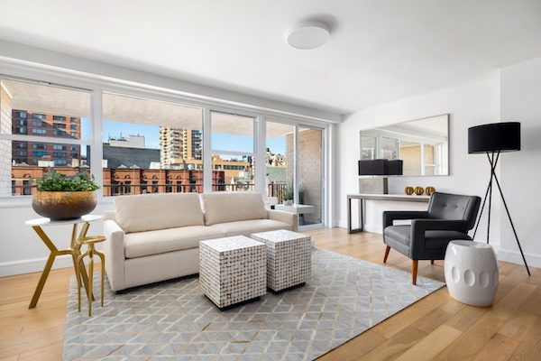high floor nyc condo with balcony