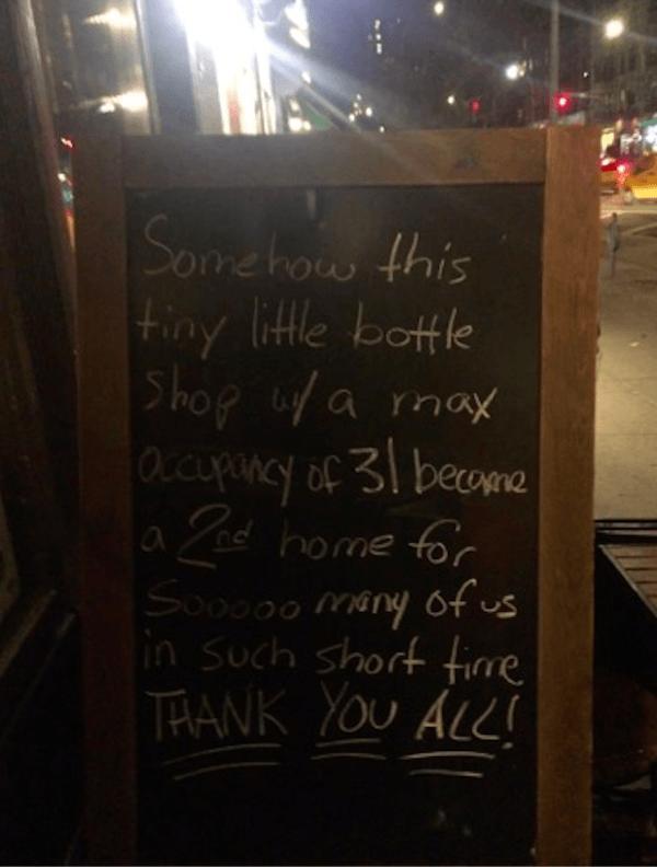 Beer Shop UWS Closes