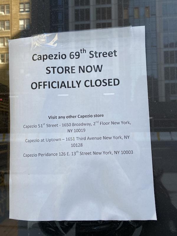 Capezio Closes