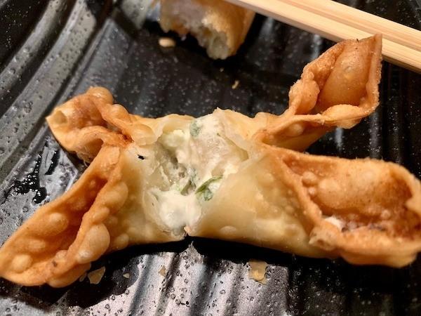 gyu kaku fried cheese wonton