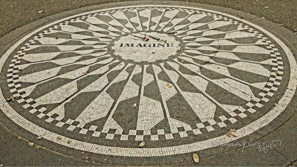 imagine circle strawberry fields