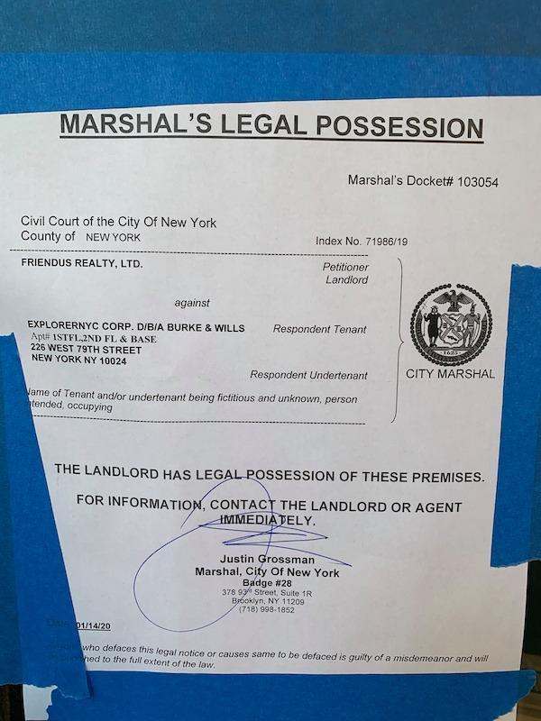 Marshal's Notice Burke & Wills