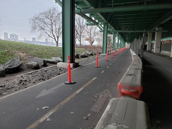 Riverside Park South Entrance Closed