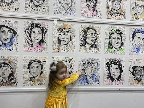 wall of famous American women