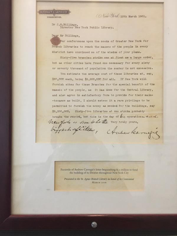 Andrew Carnegie Letter