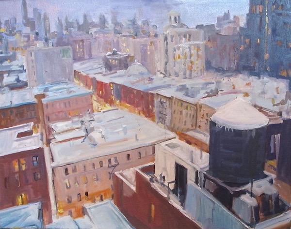 Watercolor Sketch NYC rooftops
