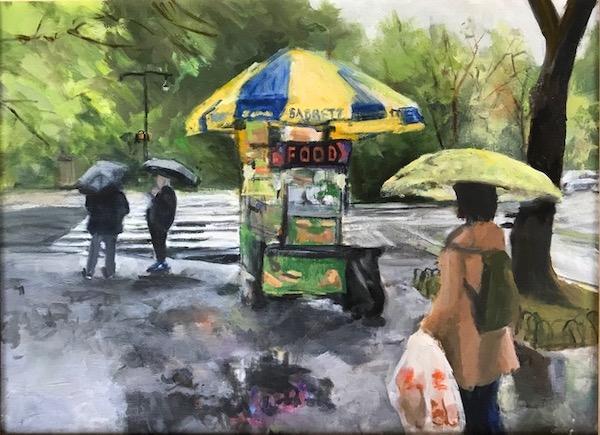 Central Park Watercolor Painting Joan Menschenfreund