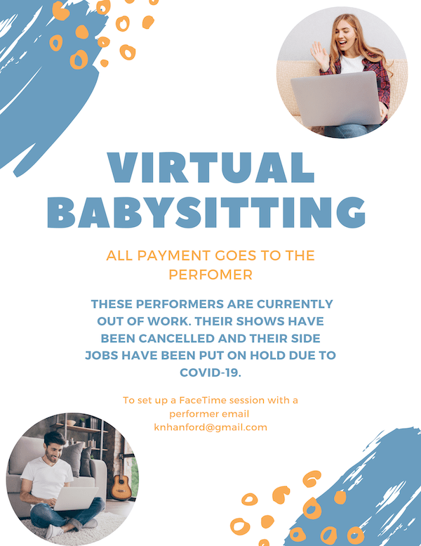 Virtual Babysitting By Broadway Performers I Love The Upper West Side
