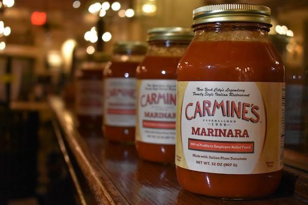 Carmine's Selling Signature Sauce
