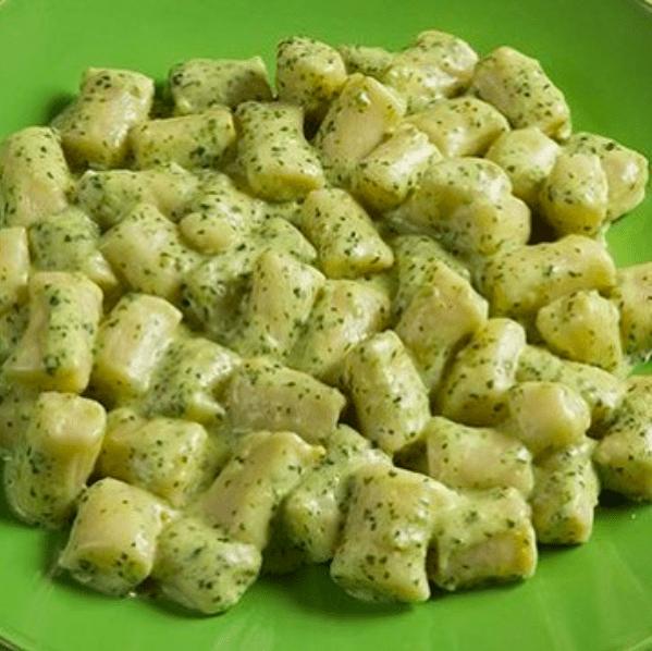 Homemade Pesto Gnocchi