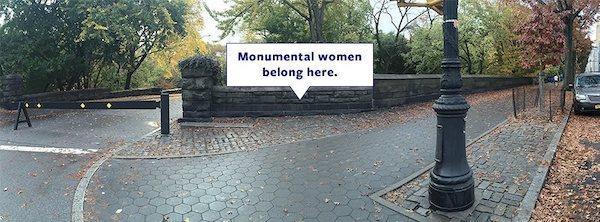 Monumental Women Statue Central Park