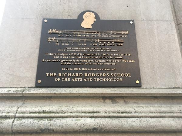 Richard Rodgers Plaque PS 166