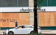 Broadway, Boarded Up With Messages Seeking Justice