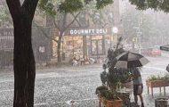 Hail Storm Upper West Side