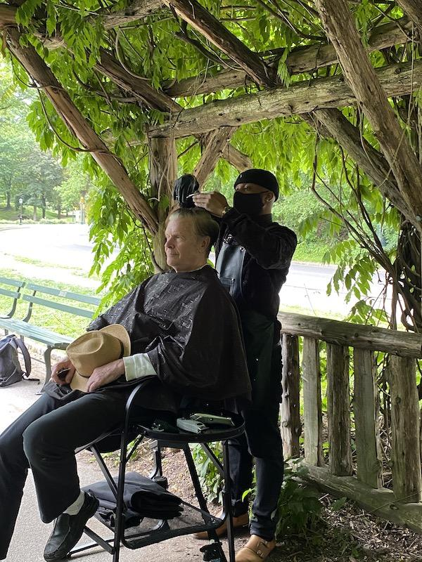 Haircuts in Central Park