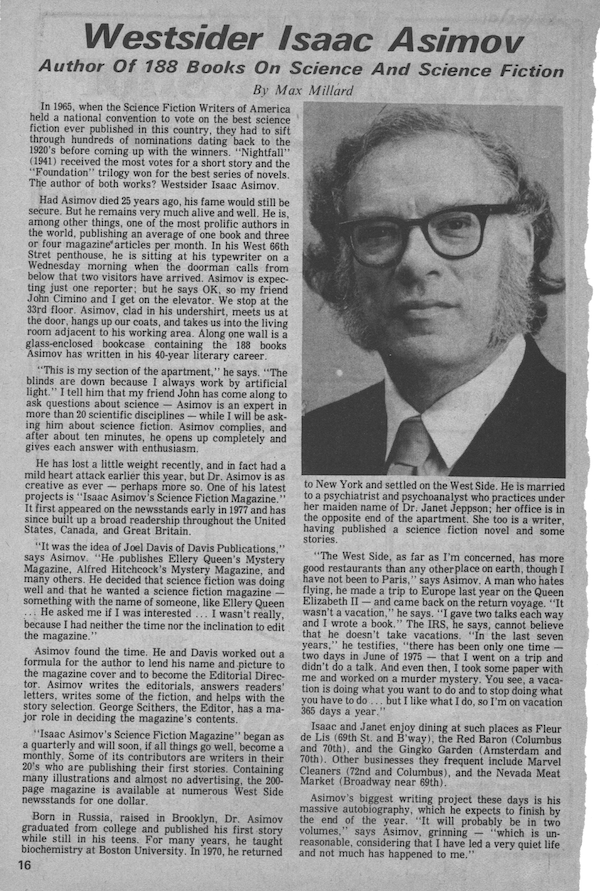 Isaac Asimov 1977 Interview