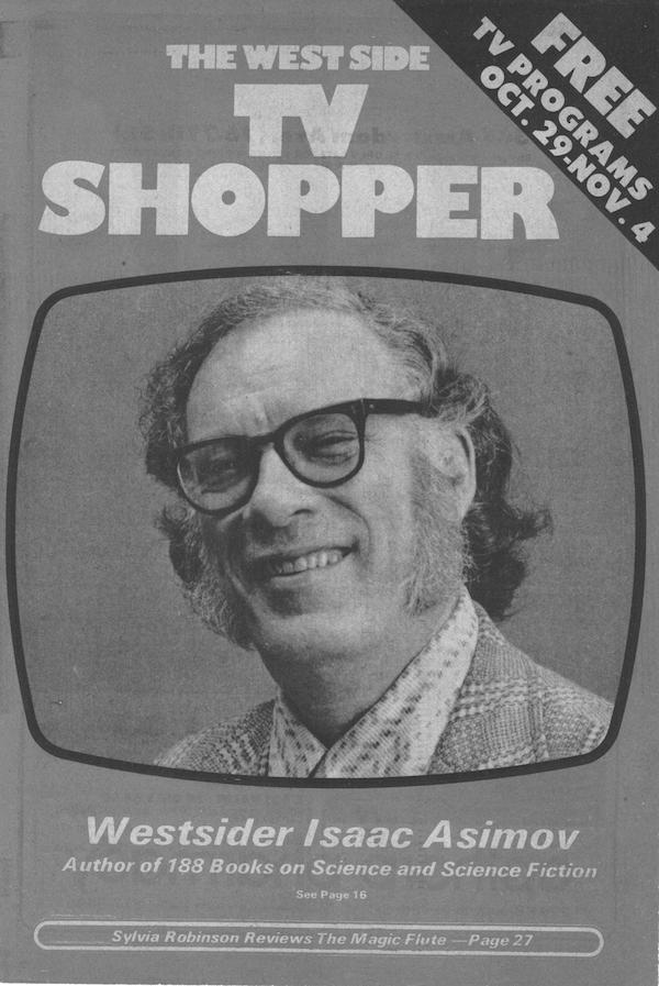 Isaac Asimov West Side TV Shopper