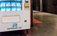 A Face Mask Vending Machine in Columbus Circle's TurnStyle Underground Market