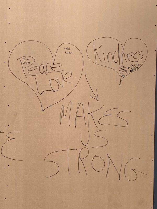peace love kindness makes us strong