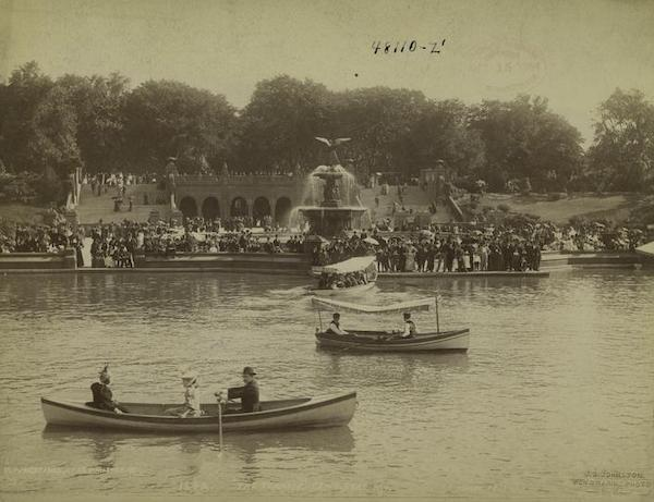 Central Park boat ride 1894