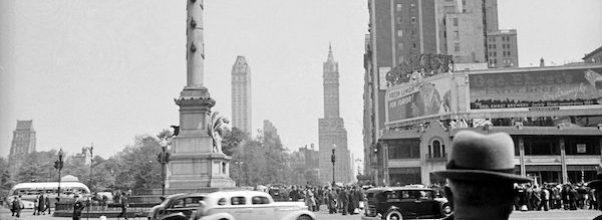 Old Photos Columbus Circle New York City